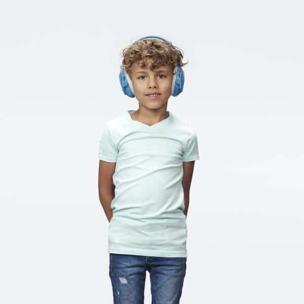 boy wearing muffy kids blue hearing protection